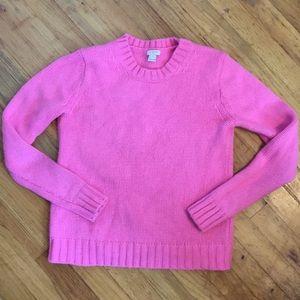 Jcrew Highlighter Pink Sweater